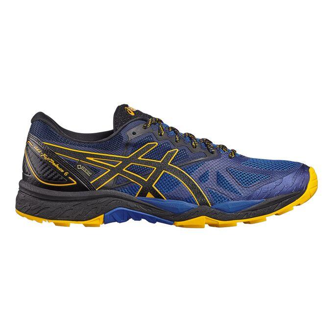 Фото 1 - Мужские кроссовки ASICS FujiTrabuco 6 G-TX, Цвет: Blue/Black/Gold Fusion