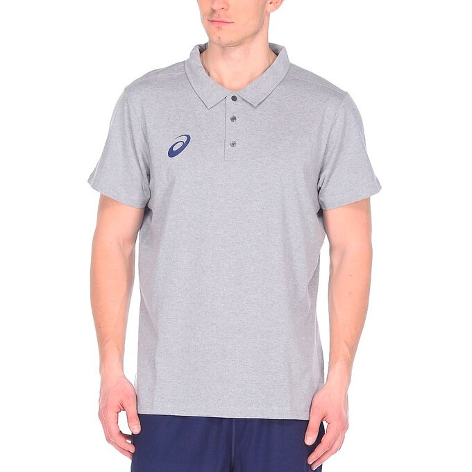 Фото 1 - Мужская футболка ASICS Polo, Цвет: Grey