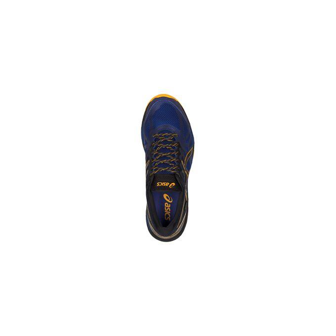 Фото 5 - Мужские кроссовки ASICS FujiTrabuco 6 G-TX, Цвет: Blue/Black/Gold Fusion